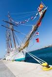 Spanish Navy training ship J.S. de ElCano Stock Photos