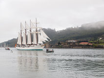 Spanish Navy Training Ship, Juan Sebastian Elcano Royalty Free Stock Photos