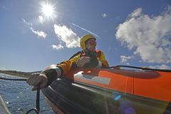 The Spanish ngo Proactiva Open Arms rescue team. Stock Images