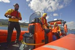 The Spanish ngo Proactiva Open Arms rescue team. Royalty Free Stock Photos