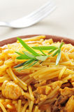 Spanish noodles with chicken Stock Photography