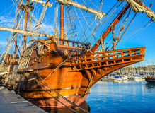 Spanish old Ship in Barcelona Royalty Free Stock Photo