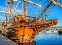 Spanish Old Ship In Barcelona Royalty Free Stock Photo