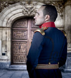 Spanish old soldier, elegant historical costume Royalty Free Stock Image