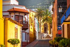 Spanish old town on the Tenerife island Stock Image
