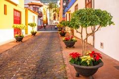 Spanish old town on the Tenerife island Stock Photo