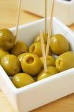 Spanish olive tapas Stock Images