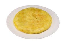 Spanish omelet. Spanish potato omelet very popular in Spain royalty free stock image
