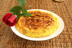 Spanish omelet. Traditional spanish lunch Royalty Free Stock Images