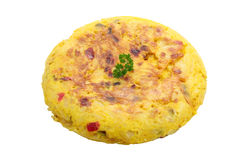 Spanish omelet with peppers Royalty Free Stock Photography