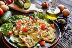 Spanish omelet with potato and onion Royalty Free Stock Image