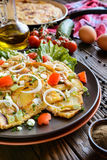 Spanish omelet with potato and onion Stock Image