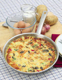 Spanish omelet tortilla vertical Stock Photos