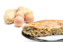Spanish omelette potatoes and eggs Royalty Free Stock Image