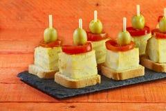 Spanish omelette brochettes Royalty Free Stock Photography