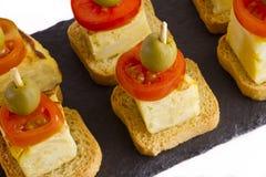 Spanish omelette brochettes Stock Photos