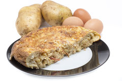Spanish omelette food Stock Photo