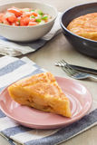 Spanish omelette Stock Images