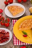 Spanish omelette. royalty free stock photography