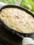 Spanish Omelette- Tortilla. Angled view of a Spanish Omelette- Tortilla stock photos