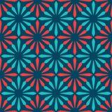 Spanish ornamental ceramic tile. Blue and red spanish ornamental ceramic tile vector design Vector Illustration