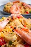 Spanish paella Stock Images
