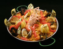 Spanish paella Stock Photos