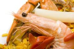 Spanish paella close-up Stock Image