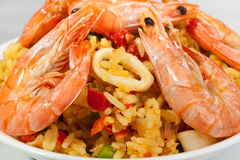 Spanish Paella Close Up Royalty Free Stock Photography