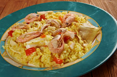 Spanish Paella de Marisco Stock Image