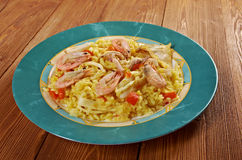 Spanish Paella de Marisco Royalty Free Stock Photos