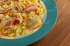 Spanish Paella de Marisco Stock Photos