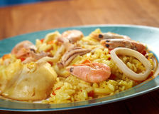 Spanish Paella de Marisco Stock Photo