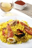Spanish paella dinner Royalty Free Stock Photo