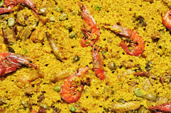 Spanish paella mixta Stock Images