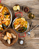 Spanish paella with mussels Stock Image