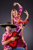 Spanish pair playing guitar Stock Photography
