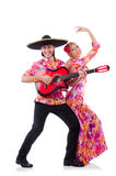 Spanish pair playing guitar Stock Photos