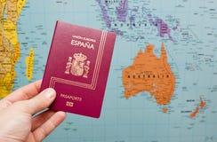Spanish passport Stock Images