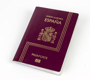 Spanish passport Stock Photo