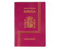 Spanish passport stock image