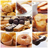 Spanish pastries collage Stock Photos