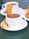 Spanish pastry - churros Royalty Free Stock Photo
