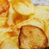 Spanish patatas fritas, french fries Stock Photography