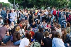Spanish Peaceful Demonstration Stock Photo