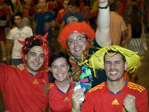 Spanish people celebrating the Worldcup victory Royalty Free Stock Photography