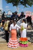 Spanish people at the Seville Fair. Royalty Free Stock Image