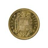 1 spanish peseta coin 1966 obverse. Isolated on white background stock images