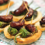 Spanish pinchos Stock Images