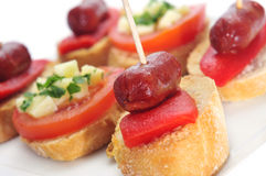 Spanish pinchos Royalty Free Stock Images